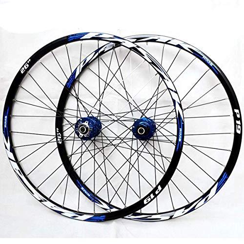 TYXTYX Mountainbike Wheelset 26 27.5 29 Inch 7 8 9 10 11 12 Speed Bicycle Wheelset Ultralight MTB Rim Disc Brake QR Sealed Bearing Hub for Cassette Flywheel 32 Spokes