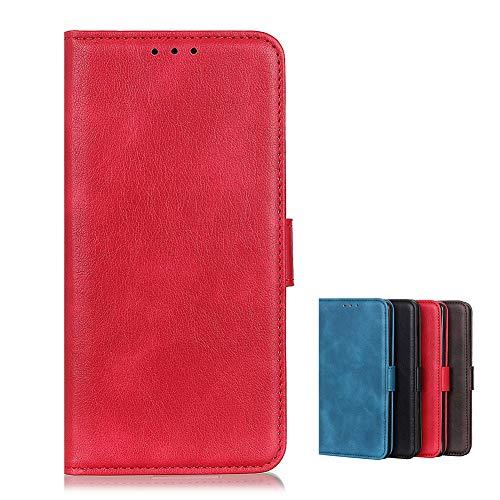 BaiFu Brieftasche Schutzhülle für Wiko View4/Wiko View4 Lite Hülle mit Kartenfach Etui Standfunktion & Magnetisch Handyhülle Leder Flip Lederhülle für Wiko View4/Wiko View4 Lite (Rot)