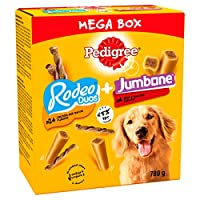 Chewy dog treats and dog chew sticks with less than 5 Percent fat/100 g Dog training treats with Omega 3 to help keep them fit for life Dog treats for training with vitamin E to help support natural defences Treats for dogs with minerals including ca...