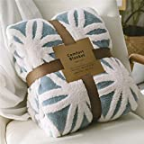 LOMAO Sherpa Fleece Blanket Fuzzy Soft Bed Blanket Dual Sided Throw Blanket fit Couch Sofa (Light Blue,51x63 inch)
