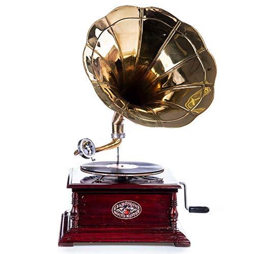 Trichter Grammophon his Masters Voice Grammophone mechanischer Plattenspieler lup008 Palazzo Exklusiv