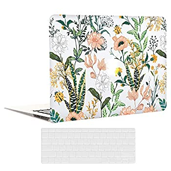EkuaBot Floral Flower MacBook Pro 13 inch Case  A1425/A1502 2012-2015 Release  Rubber Coated Hard Case Only Compatible MacBook Pro 13.3 with Retina Display  NO CD-ROM
