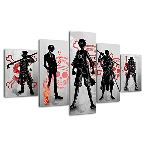 One Piece Japanese Anime Poster Prints on Canvas Unframed for Boy's Gift Wall Decor (One Piece 1)