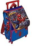Mochila con Ruedas Extensible para niños, diseño de Spiderman, 40 cm, Color Azul