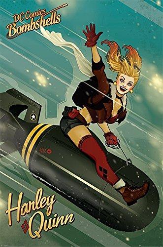 Batman - DC Comics Bombshells - Poster/Print (Retro Harley Quinn/Bomb) (Size: 24 inches x 36 inches)