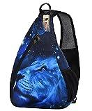 iColor Sling Bag Print Chest Shoulder Backpack Crossbody Pack Rucksack For Hiking Beach
