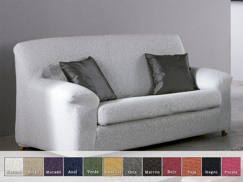 Eysa - Funda de sofá elástica moran, medidas 3 plazas, color negro: Amazon.es: Hogar