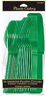 green plastic utensils