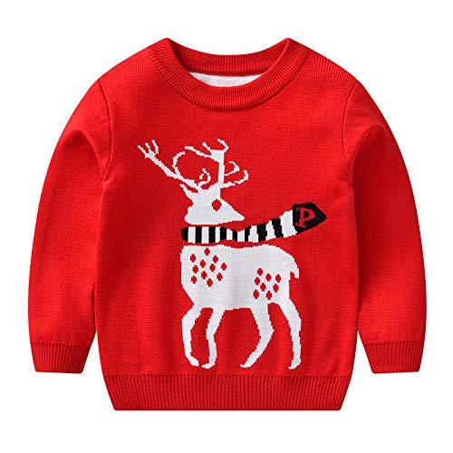 K-Youth Sudadera de Punto Niño Invierno Navidad Reno Suéter Niña Ropa Bebe...