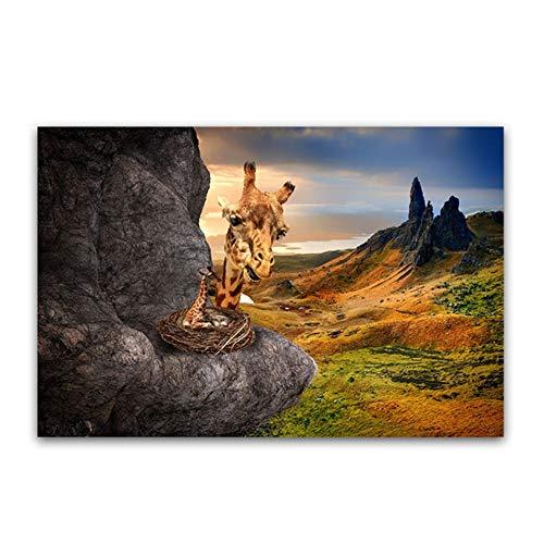 YANGMENGDAN Druck auf Leinwand Kreation von Adam Hand Gottes druckt Religion Wandmalerei berühmte Gemälde Kopie von Michelangelo Sixtinische Kapelle Fresken 70x100cmx1pcs Kein Rahmen 4