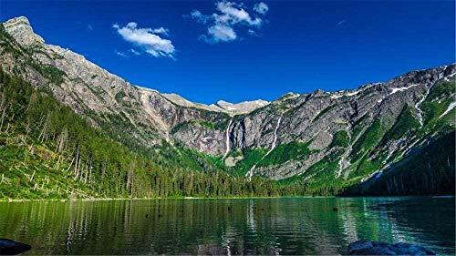 RONGFUQIANG Rompecabezas de 1000 Piezas Pintoresco Lago