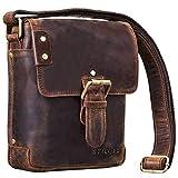STILORD 'Alessio' Leder Messenger Bag Männer klein Vintage Umhängetasche Herrentasche