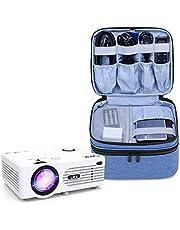 Luxja Torba do przenoszenia do projektora DR.Q, torba do przenoszenia projektora kompatybilna z miniprojektorem XuanPad, pasuje do większości mini projektorów i akcesoriów, niebieska