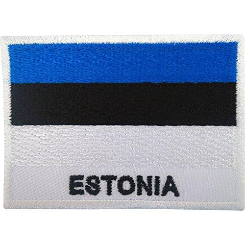 Estland-Flagge Aufnäher zum Aufbügeln oder Aufnähen, bestickt, Motiv: Estland
