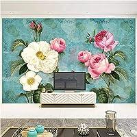 写真の壁紙3D立体空間カスタム大規模な壁紙の壁紙 三次元の花の壁の装飾リビングルームの寝室の壁紙の壁の壁画の壁紙テレビのソファの背景家の装飾壁画-400X280cm