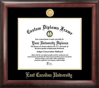 Campus Images NC995GED East Carolina University Embossed Diploma Frame, 11 x 14, Gold