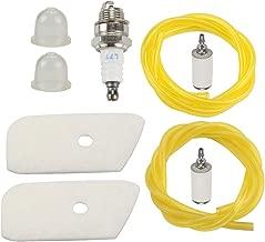 Mckin 530150253 Air Filter + Fuel Filter Line fits Craftsman Husqvarna 124L 125L 125LDX 128L 128CD 128LD 128LDX Weed Eater Trimmer Edger