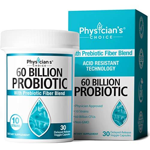 Probiotics 60 Billion CFU - Dr. Approved Probiotics for Women, Probiotics for Men and Adults, Natural, Shelf Stable Probiotic Supplement with Organic Prebiotic, Acidophilus Probiotic, 30 Capsules from JB7, LLC