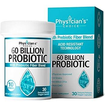 Probiotics 60 Billion CFU – Probiotics for Women, Probiotics for Men and Adults, Natural, Shelf Stable Probiotic Supplement with Organic Prebiotic, Acidophilus Probiotic