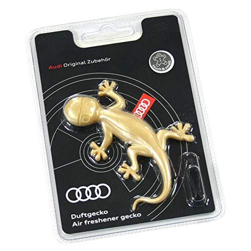 Audi 000087009AS Duftgecko Goldoptik Lufterfrischer aromatisch-zimtig, Gelb