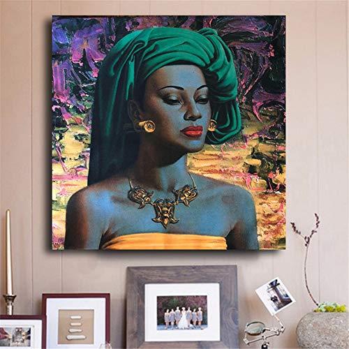 Balinese Girl Vintage Canvas Art Posters and Prints Imagen de Pared nórdica para Sala de Estar 50x50cm sin Marco