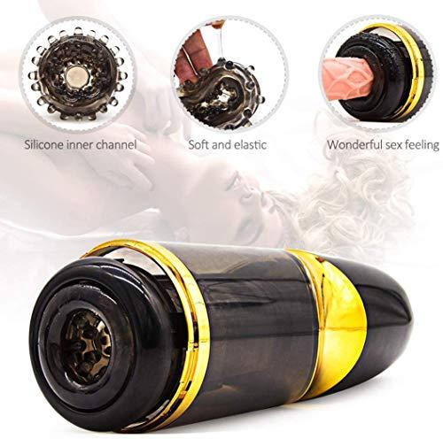 CRYPJJJ Automatische Kolbenteleskop Rotation freihändig Flugzeug Cup Multi-Speed-Electric Medical Starke Saugen Mâ & stürbâtõr Spielzeug for Männer