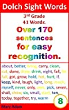 Dolch Sight words. 3rd Grade. 41 words. Over 170 sentences. (for easy recognition, learn to read, reading for beginners)