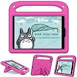 GOZOPO Funda para iPad mini 4 / iPad mini5, ligera, a prueba de golpes, con asa portátil, color rosa