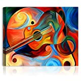 A&T ARTWORK Music and Rhythm Abstract Art, giclee Canvas Prints Wall Art for Home Décor Stretched Canvas Gallery Wrapped 30x24 inches