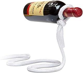 T&B ロープ ワイン ホルダー ワイン ラック 魔法の ワイン ボトル ホルダー インテリア おしゃれ 大人 デザイン ディスプレイ 贈り物 ギフト 宙に浮いた オブジェ (白)