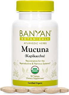 Banyan Botanicals Mucuna Pruriens – Organic Herbal Tablet – Energizing, Supports Healthy Nervous & Reproductive Systems* –...