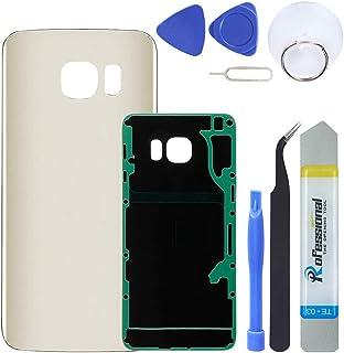 MAGIAI الخلفية الزجاج Samsung Galaxy S6 Edge Plus (جميع الحاملات) لوحة الزجاج الخلفي غطاء باب البطارية أدوات حدق بديلة (ذهبي)