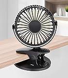 Vegena USB Ventilator mit Clip, Tischventilator Leise Mini Tisch Ventilator Klein Fan Lüfter 3 Geschwindigkeitsstufen 360 Drehbare Einstellbare Kompatibel für PC MAC Notebook Computer...