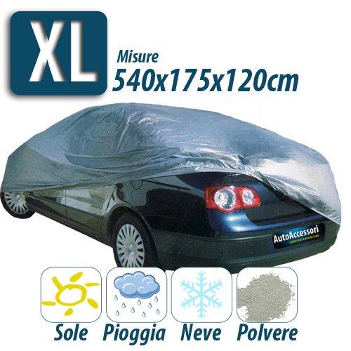 TELO COPRIAUTO IMPERMEABILE IN NYLON COPRI AUTO MACCHINA TAGLIA XL 540x175x120cm