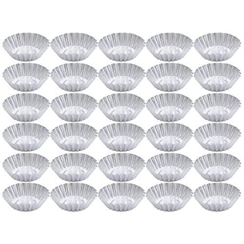 Angoily Piezas Molde para Tarta de Huevo de Aleación de Aluminio Molde para Magdalenas Mini Pastel Resistente Al Calor Antiadherente Galletas Magdalenas Pasteles Hornear Tazas