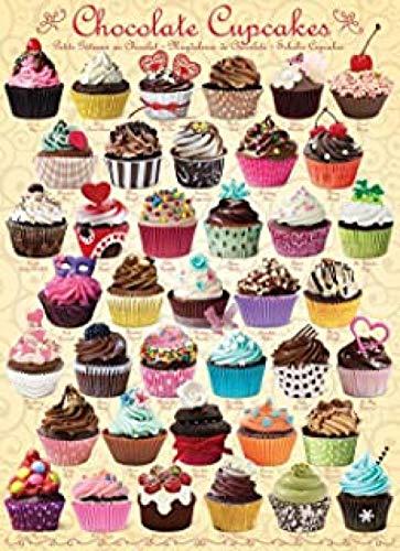 Puzzels 1000 stukjes, Educatief spel Educatief speelgoed - Chocolade Cupcake Decompressie Games Landschap Jigsaws