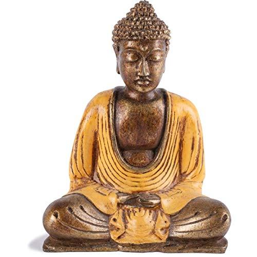 KOH DECO Statue Bouddha Thaïlandais 15 cm - Orange