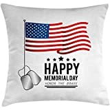 SSHELEY Fundas de colchón Memorial Day Throw Pillow, Honor The Brave Happy...