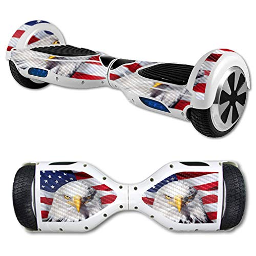 MightySkins Carbon Fiber Skin for Self Balancing Mini Scooter Hover Board - America Strong | Protective, Durable Textured Carbon Fiber Finish | Easy to Apply | Made in The USA