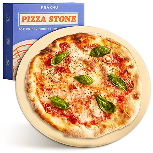 Piedra para Pizza para Horno y Grill - Redonda 30 cm - Para Masa de Pizza Crujiente - Plancha de Piedra Refractaria