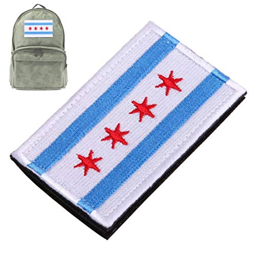 Lankater Patch Morale 3d Embroidered 4 Star Armband Flag Chicago Alumni Flag Morale Tags Patches Military Army Badges