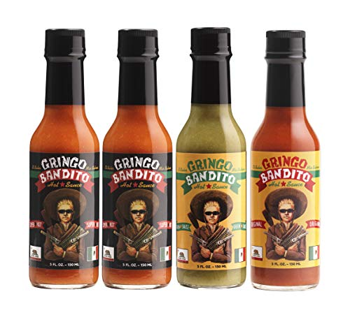 Gringo Bandito Super Hot Sauce Variety Pack, 5 Fl Oz (Pack of 4)