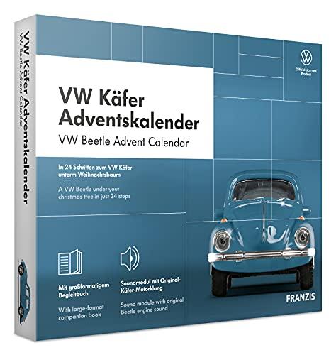 Franzis VW Coccinelle Calendrier de l'Avent, Metal, Bleue, Taille unique