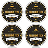 4 Packs Beard Care Balm Leave in Conditioner 100% Nature Organic Mustache Balm for Men Gifts Beard Cream/Butter for Beard Growth Softening Styling Moisturizing 1.33 Oz/Tin