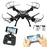 RC Drone con wifi HD FPV Camera Remote Control Airplane + Supporto batteria...