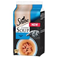 High quality adult cat food providing complete nutrition for your feline companion Classic recipe of delicately flaked morsels in a smooth, silky cat food soup Savoury broth with tasty tuna, chicken and ocean fish Delicious pet food made from select ...