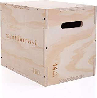 lullaboy Wood Plyo Box,3 in 1 Sizes: 16//20//24 Wooden Plyo Box for Exercise Crossfit MMA Training. Jump