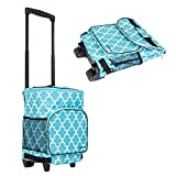 dbest products Ultra Compact Cooler Smart Cart, Moroccan Tile Insulated Collapsible Rolling Tailgate...