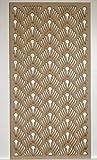 LaserKris E2L1 - Rejilla decorativa para pared (tablero DM perforado, 1200 x 610 mm)