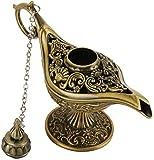 2 Pcs Vintage Magic Aladdin Genie Lamp Classic Legend Aladdin Light Lamp Pot para el colector de decoración del hogar-2_Pcs_Bronce